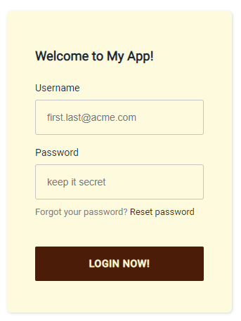 Customized Amplify login page with styling