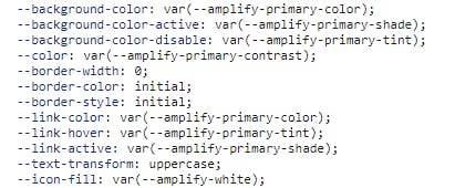 Amplify CSS Variables